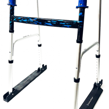 Folding Walker with Stabilizer Kit and Rubber Feet Pads